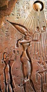We also see it depicted in Egpytian high status people such as King Tut and Queen Nefertiti.