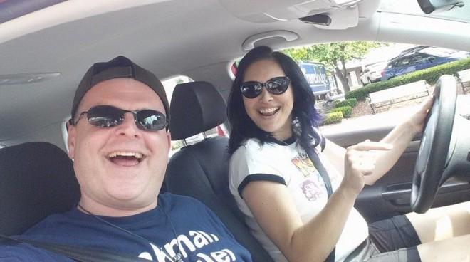 Kenny and I cruising around Gettysburg.