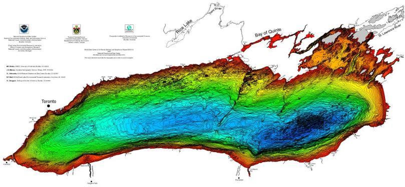 Lake Ontario bathymetry (NOAA)