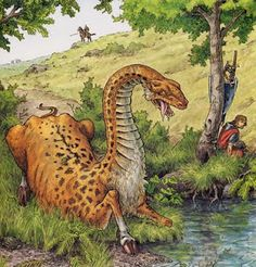 The Celtic Questing Beast, a monster with the head of a snake, the body of a leopard, the backside of a lion and the hooves of a deer.
